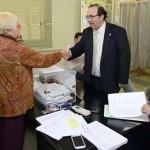 Elecciones a Órganos de Representación - PDI - PAS 2014. El Rector Orihuela, visita las mesas electorales del Campus de Espinardo