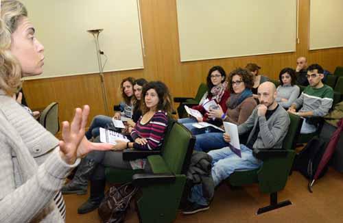 Recepción alumnos prograna intercambio INPS-Italia. Sala Grados F. Veterinaria. Campus Espinardo