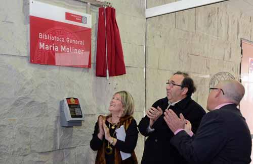 Acto público de denominación de la Biblioteca General del Campus de Espinardo con el nombre de María Moliner