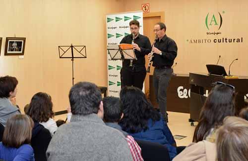 Concierto Didáctico miembros de la Orquesta Universitaria de Murcia. Sala de Ambito Cultural, sótano 1º, El Corte Inglés