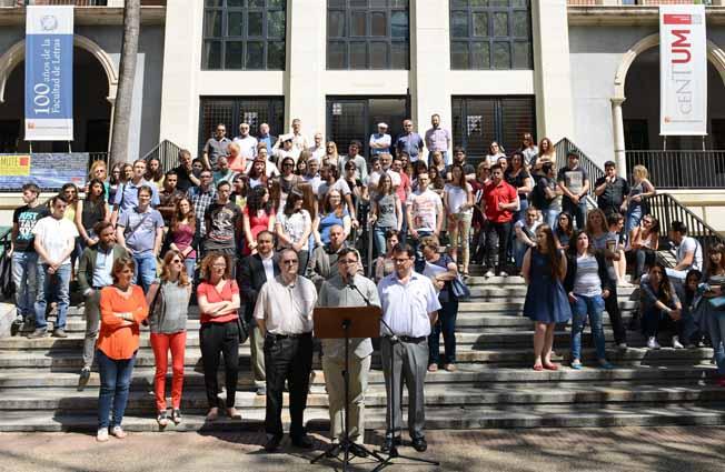 Lectura del Manifiesto de la XXIII Conferencia de Decanos de Filosofía y Letras. Campus de La Merced