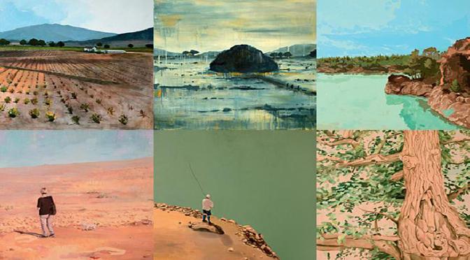 Artistas de Bellas Artes de la Universidad de Murcia pintan parajes naturales de la Región