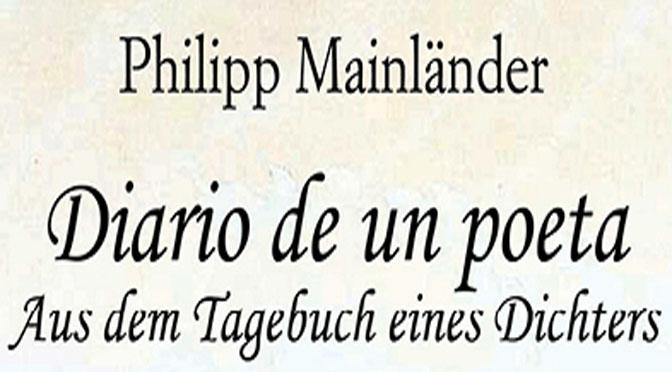 presentación del libro Diario de un poeta, de Phillip Mainländer