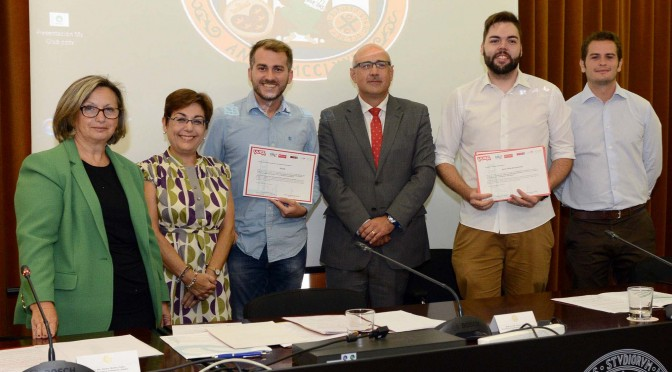 Dos graduados de la Universidad de Murcia llevarán a Silicon Valley un proyecto para tratar animales con células madre