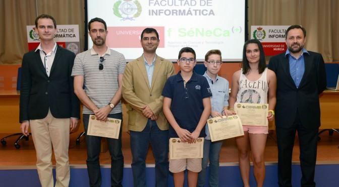 la universidad de murcia entrega los premios de la olimpiada informática de la región