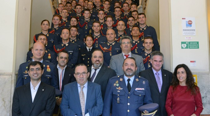 Alumnos de la Academia general del aire visitaron la universidad de murcia