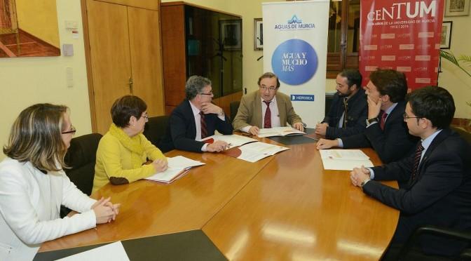 La Universidad de Murcia y empresa municipal se unen para crear la Cátedra del Agua y la Sostenibilidad