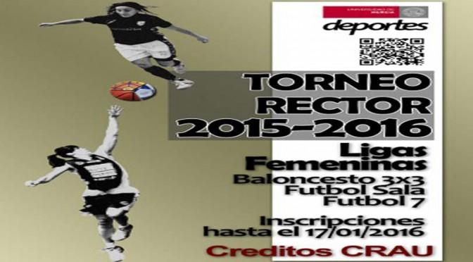 Ampliación de plazo para la inscripción en  ligas femeninas del Torneo Rector