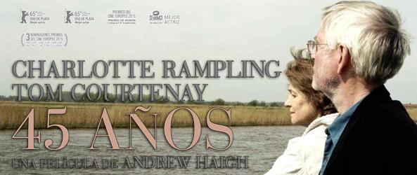 La cinta británica 45 años, protagonizada por Charlotte Rampling, en los lunes de V.O.