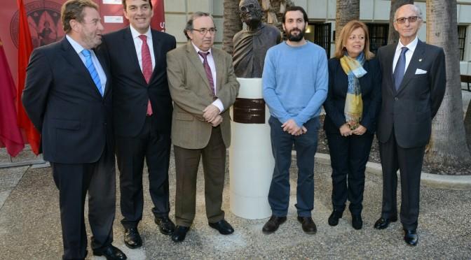 Homenaje de la Universidad de Murcia al rector Loustau y al benefactor Juan López-Ferrer
