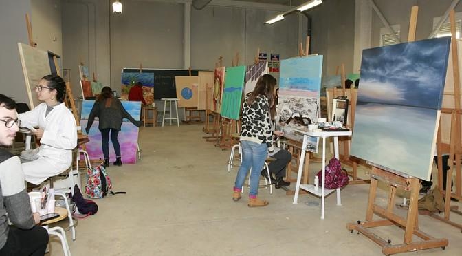 Los paisajes de los arenales de San Pedro del Pinatar, pintados por 45 alumnos de Bellas Artes de la UMU