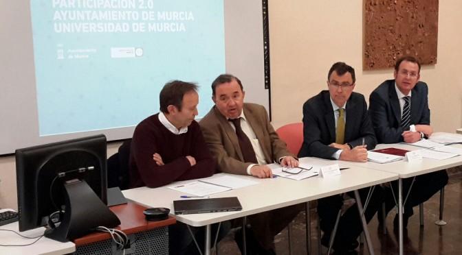 Reunión de la UMU y el Ayuntamiento de Murcia para el desarrollo de un proyecto tecnológico de participación ciudadana