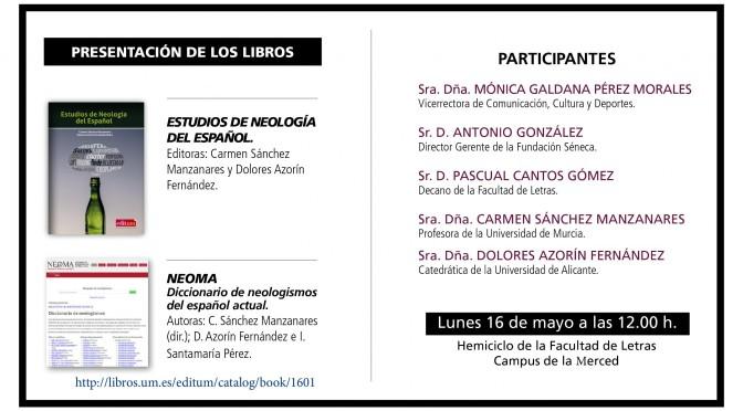 """Presentación de los libros """"NEOMA"""" y """"Estudios de neología del español"""""""