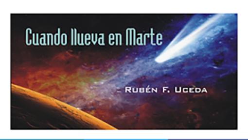 """Rubén Uceda, alumno de la UMU, publica """"Cuando llueva en Marte"""", su primera novela"""