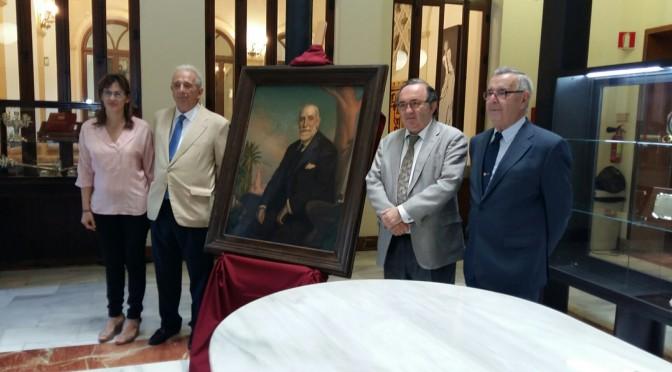 Donación del retrato de uno de los artífices de la creación de la Universidad de Murcia