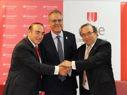 Crue Universidades Españolas, Banco Santander y la Universidad de Murcia firman un convenio para el desarrollo del Proyecto Hércules