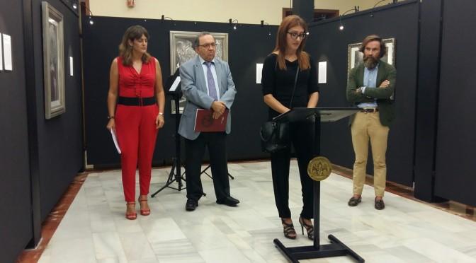 """Gabriela Amorós en la inauguración de su exposición """"El estuario Rojo"""" en la UMU: """"Dibujo para ser un poco más feliz"""""""