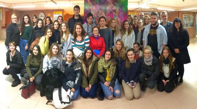 los voluntarios de la Universidad de Murcia, la presidenta de la Federación y la responsable de voluntariado del Campeonato2
