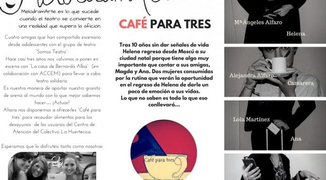 """Melodramarte presenta """"Café para tres"""" en el Campus de la Merced de la UMU"""