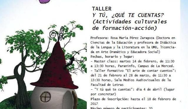 Un taller de la UMU enseñará el arte de contar cuentos