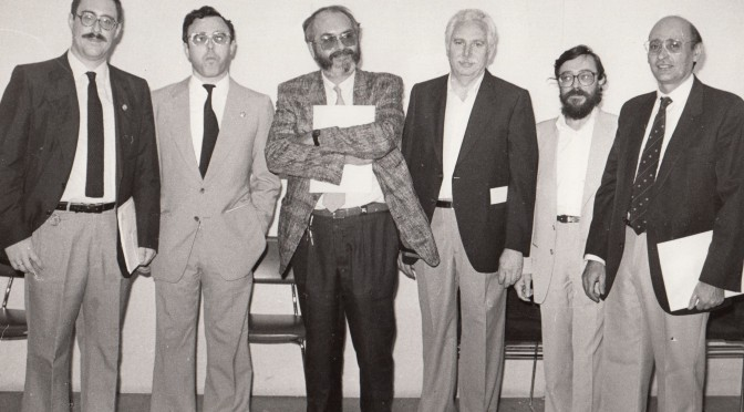 El equipo rectoral que inauguró la Convalecencia