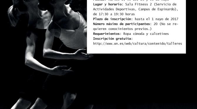 Taller de danza educativa y creativa en la Universidad de Murcia