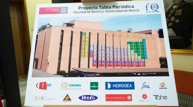 """La Tabla Periódica """"más grande del mundo"""", quedará instalada en la Facultad de Química de la UMU"""