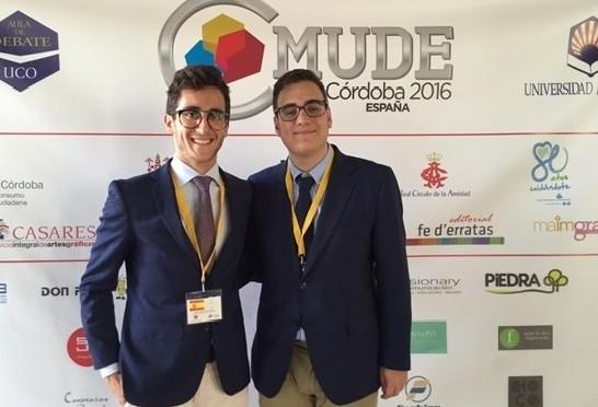 Dos alumnos de la Universidad de Murcia participan en el Campeonato Mundial Universitario de Debate en Español