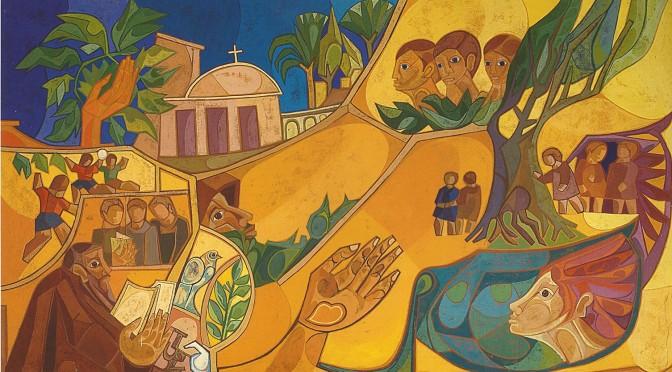 párraga -alegoría de educación y evangelio -capuchinos