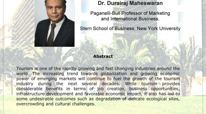 Durairaj Maheswaran, profesor de la Universidad de Nueva York, impartirá una conferencia en la UMU