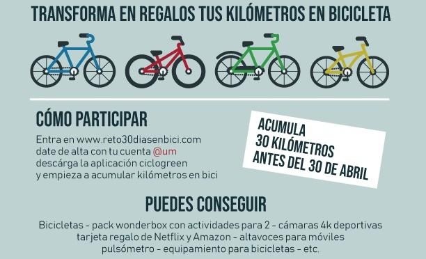 La Universidad de Murcia se suma al reto '30 días en bici'