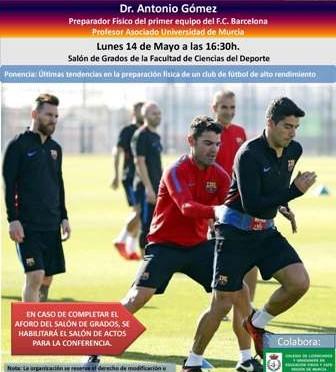 El preparador físico del FC Barcelona imparte una conferencia en la Facultad de Ciencias del Deporte de la UMU