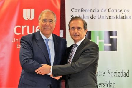 Crue Universidades Españolas y la Conferencia de Consejos Sociales suman fuerzas para acelerar el compromiso de las universidades con el bienestar social