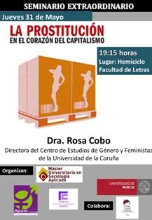 La UMU acoge una charla sobre prostitución impartida por la profesora Rosa Cobo