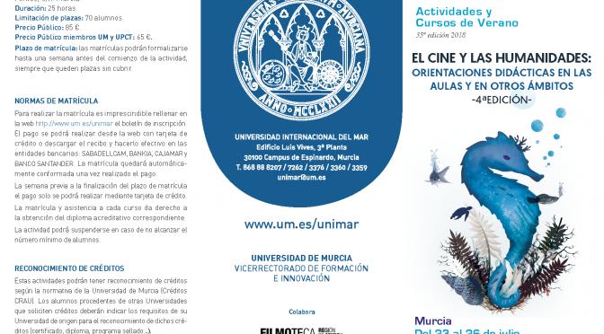 El cine como recurso didáctico será protagonista de un curso de la Universidad Internacional del Mar