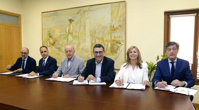 Firmado el convenio 'Cátedra de Empresa Familiar Mare Nostrum UMU-UPCT con Bankia y Fundación Cajamurcia