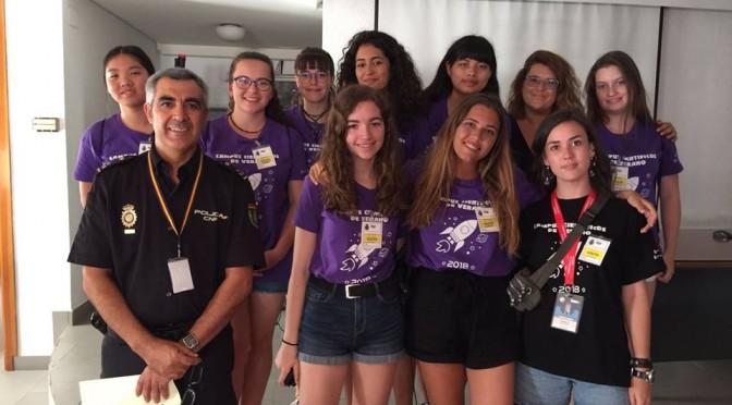 La UMU agradece la participación de la Policía Nacional en los Campus Científicos de Verano 2018 con un acto institucional presidido por el rector