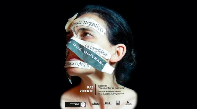 La artista Paz Vicente expone su obra en la Universidad de Murcia