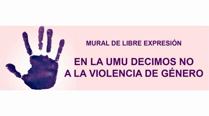 La Universidad de Murcia expresa su rechazo a la violencia de género a través de un gran mural de pintura