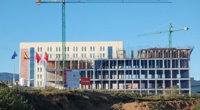 Avanzan las obras del nuevo aulario en el Campus de Ciencias de la Salud de la Universidad de Murcia
