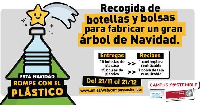 La Universidad de Murcia impulsa una campaña de recogida de plásticos entre la comunidad universitaria