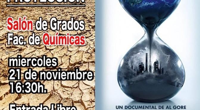 La Universidad de Murcia acoge la proyección del documental ''Una verdad muy incómoda: ahora o nunca'