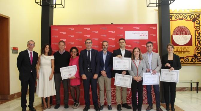 La Universidad de Murcia hace un reconocimiento al alumnado galardonado con un premio nacional de fin de carrera