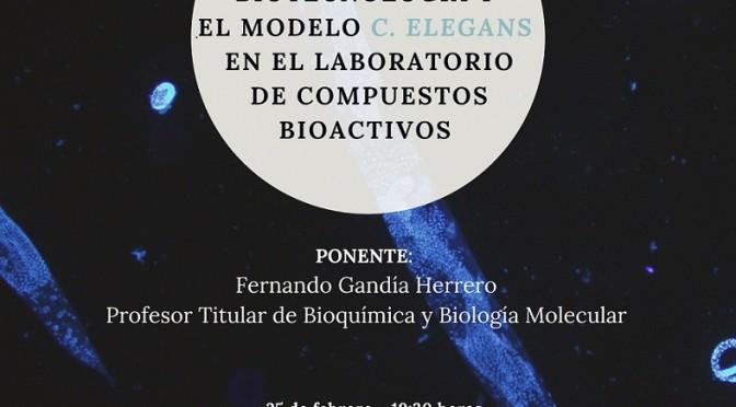 Conferencia: Biotecnología y el modelo C. elegans en el laboratorio de compuestos bioactivos