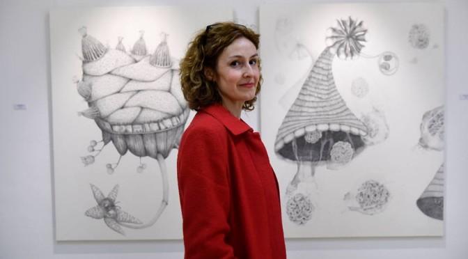 La artista Raquel Mora expone en el Museo de la Universidad de Murcia