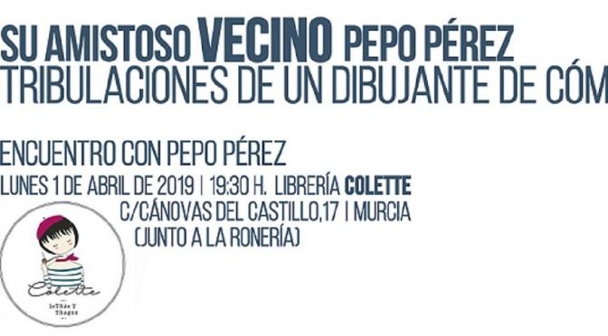 Las tribulaciones del dibujante de cómic Pepo Pérez en la Universidad de Murcia