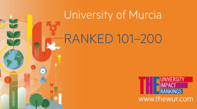 La Universidad de Murcia se sitúa en el intervalo 101-200 en el nuevo ranking THE University Impact Rankings
