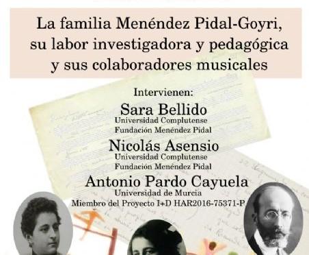 La Universidad de Murcia acoge una conferencia para dar a conocer la labor investigadora de la familia Menéndez-Pidal