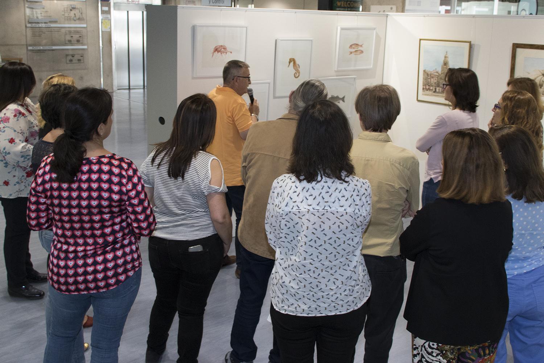 Exposición de Juan Heredia. Foto: um.es
