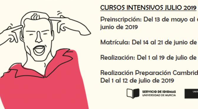 Abierto el plazo de inscripción para los cursos de idiomas intensivos de verano de la Universidad de Murcia